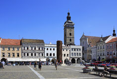 Architecture at the square in historic center of Royalty Free Stock Photo