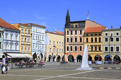 Architecture at the square in historic center Stock Image