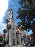 Architecture in St. Augustine, Florida. A building in Historical St. Augustine Florida royalty free stock image