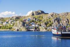 Architecture of St. John`s, Newfoundland. St. John`s, Newfoundland and Labrador, Canada stock image