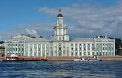 The architecture of St. Petersburg (Russia) - view of the Neva river. Royalty Free Stock Photography