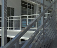 Architecture: staircase and windows Stock Photos