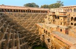 Architecture of stairs at Abhaneri baori stepwell in Jaipur Rajasthan india
