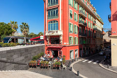 Architecture and street view of Nice. Royalty Free Stock Photography