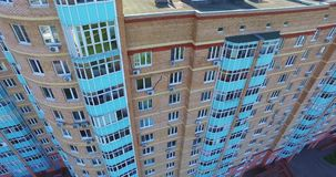 Architecture, Streets and apartments aerial in Moscow stock footage
