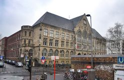 The architecture of  streets in Cologne Germany Royalty Free Stock Photography
