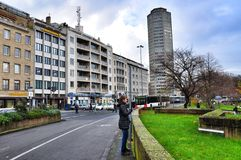 The architecture of  streets in Cologne Germany Stock Photography