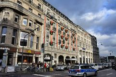 The architecture of  streets in Cologne Germany Royalty Free Stock Photos