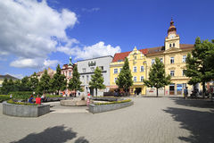 Architecture on the streets of town Benesov Stock Photography