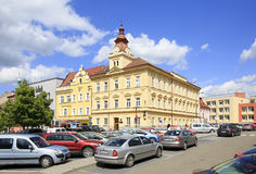 Architecture on the streets of town Benesov Royalty Free Stock Image