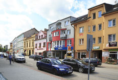 Architecture on the streets of town Benesov Stock Photo