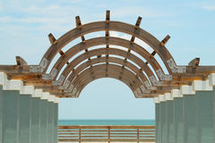 Architecture Structure. Shot of an architecture structure leading to the Atlantic Ocean in Daytona Beach, Florida stock images
