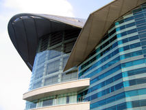 Architecture structure. Of Hong Kong Convention and Exhibition Centre Stock Image