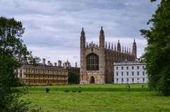 Architecture of the student city of �ambridge royalty free stock images