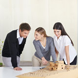 Architecture students discussing Stock Photos