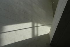 Architecture Study. Shadow and Light on a concrete wall Royalty Free Stock Photo