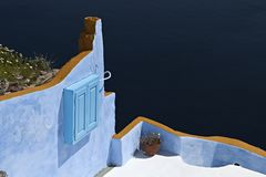 Architecture style of Santorini island Stock Photo
