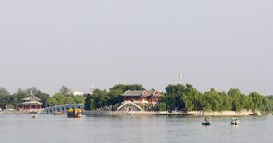 Architecture of summer palace in Beijing Stock Images