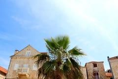 Architecture in Supetar, Croatia. Historical buildings in Supetar, island Brac, Croatia royalty free stock photos
