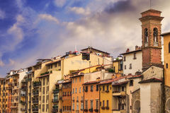 Architecture surrounding the Arno river in Florence Stock Photo