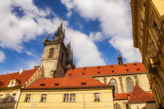Architecture surrounding the Old Town Square in Prague Royalty Free Stock Photo