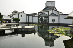 The architecture of Suzhou Museum at Suzhou, China. Royalty Free Stock Photos