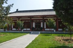 Architecture in Tang Dynasty. Absolutely, here you can see all kinds of architectural styles of the Tang Dynasty royalty free stock photos