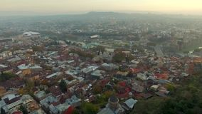 Architecture of Tbilisi, topshot stock video