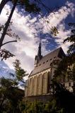 Architecture tchèque de Krumlov Photo stock