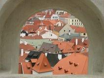 Architecture tchèque de Krumlov Photographie stock