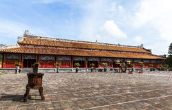 Architecture of temple the Hue ancient citadel, Vietnam Stock Photo