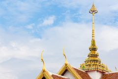 Roof temple. Architecture Temple roof of asian,Buddha temple background Royalty Free Stock Photos