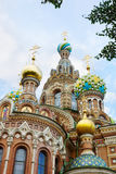 Architecture of Temple of the Savior on Blood, Saint-Petersburg Stock Photos