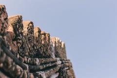 Architecture thaïlandaise d'arts traditionnels dans le vieux temple photo libre de droits