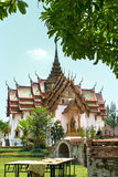 Architecture of Thailand. Royal Palace in the park. Stock Image