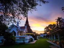 Architecture of thailand temple Royalty Free Stock Image