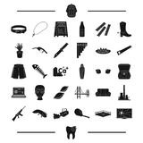Architecture, tool and other web icon in black style.Weapon, garbage, dentistry icons in set collection. Stock Photo