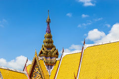 Architecture top part of  thai temple roof Royalty Free Stock Photo