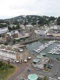 Architecture of Torquay, England stock images
