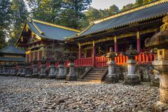 Architecture of Toshogu Shrine temple in Nikko, Japan. NIKKO, JAPAN - NOVEMBER 13, 2016:Architecture of Toshogu Shrine temple in Nikko, Japan. Nikko is a popular Royalty Free Stock Photo