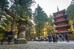 Architecture of Toshogu Shrine temple in Nikko, Japan Royalty Free Stock Images