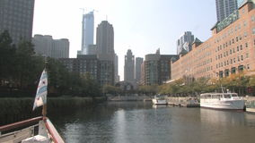 Architecture Tour Chicago River stock footage