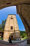 Architecture and towers of 13th century Rača monastery Royalty Free Stock Image