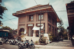 Architecture of trade streets of Ubud Stock Image
