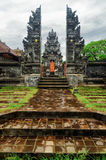 Traditional balinese architecture. Gate of temple Royalty Free Stock Photo