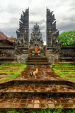Traditional balinese architecture. The Pura Besaki Royalty Free Stock Image