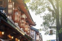 Architecture traditionnelle coréenne reconstituée comme restaurant et café dans le village de Jeonju Hanok, Corée du Sud photo libre de droits