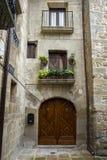 Architecture traditionnelle dans le del Rey Catolico de SOS photo stock
