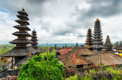 Architecture traditionnelle de balinese. Le temple de Pura Besakih Photographie stock libre de droits
