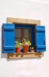 Architecture traditionnelle de village de Chora sur l'île de Kythera, Gre Images stock